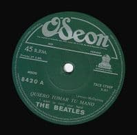 THE BEATLES I Want To Hold Your Hand Vinyl Record 7 Inch Odeon 2019